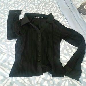 Beautiful sheer long-sleeve blouse